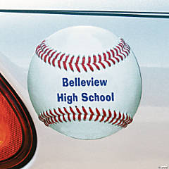 PERSONALIZED BASEBALL CAR MAGNET
