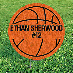 Personalized Basketball-Shaped Yard Sign