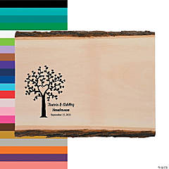 Personalized Basswood Plank Wedding Guestbook