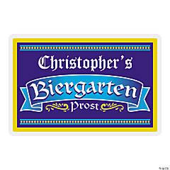 Personalized Biergarten Wooden Sign
