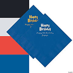 Personalized Birthday Beverage or Luncheon Napkins