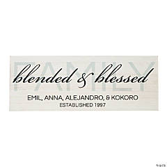 Personalized Blended & Blessed Sign