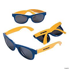 e095edffc4d4 Personalized Blue   Gold Two-Tone Sunglasses