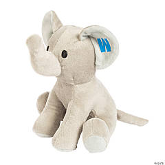 Personalized Blue Monogrammed Stuffed Elephant