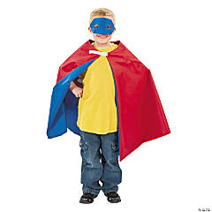 Personalized Boy's Superhero Cape & Mask