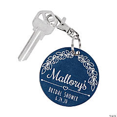 Personalized Bridal Shower Keychains