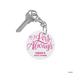 Personalized Bridal Shower Keychain