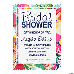 Personalized Bright Floral Bridal Shower Invitations