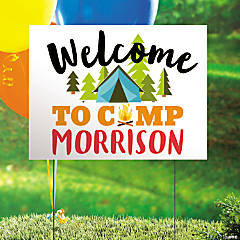 Personalized Camp Party Double-Sided Yard Sign