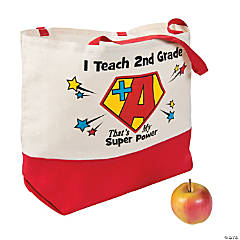 Personalized Canvas That's My Super Power Tote Bag