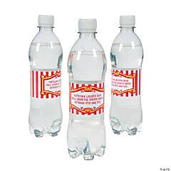 Personalized Carnival Water Bottle Labels