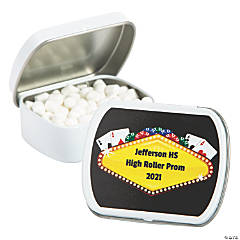 Personalized Casino Night Mint Tins