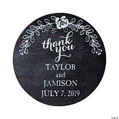 Personalized Chalkboard Fl Wedding Favor Stickers