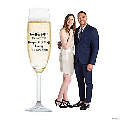 Personalized Champagne Flute Cardboard Stand-Up
