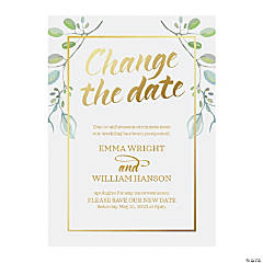 Personalized Change the Date Cards