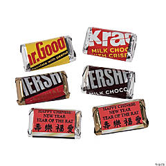 personalized chinese new year mini candy bar sticker labels