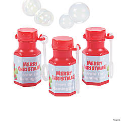 Personalized Christmas Mini Bubble Bottles