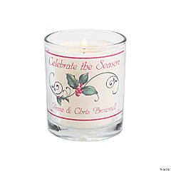 Personalized Christmas Votive Holders