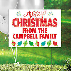 Personalized Christmas Yard Sign