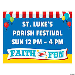 Personalized Church Carnival Yard Sign