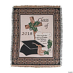 Personalized Class of 2018 Religious Graduation Throw