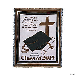 Personalized Class of 2019 Religious Graduation Throw