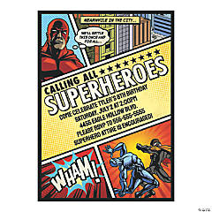Personalized Comic Superhero Party Invitations
