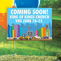 Personalized Construction VBS Yard Sign