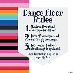 Personalized Dance Floor Vinyl Pennant Banner