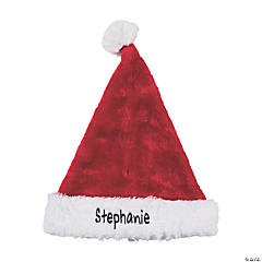 Personalized Deluxe Plush Santa Hat