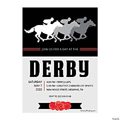 Personalized Derby Party Invitations