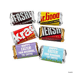 Personalized Easter Mini Candy Bar Sticker Labels