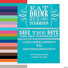 Personalized Eat Drink & Be Married Save the Date Cards