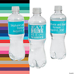 Personalized Eat, Drink and Be Married Water Bottle Labels