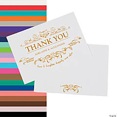Personalized Fairy Tale Wedding Thank You Cards