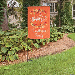 Personalized Fall & Thanksgiving Garden Flag