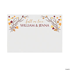 Personalized Fall Wedding Photo Booth Backdrop