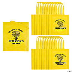 Personalized Family Tree Yellow Tote Bags