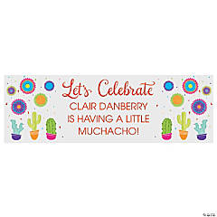 Personalized Fiesta Baby Shower Banner - Small