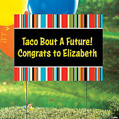 Personalized Fiesta Yard Sign