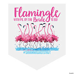 Personalized Flamingle Vinyl Pennant Banner