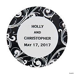 Personalized Flourish Favor Stickers