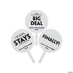 Personalized Funny Wedding Favor Hand Fans
