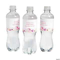 Personalized Garden Party Water Bottle Labels