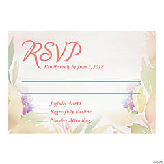 Personalized Garden Party Wedding Response Cards