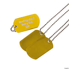 Personalized Gold Dog Tag Necklaces