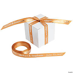 Personalized Gold Ribbon - 3/8