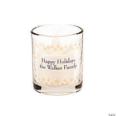 Personalized Gold Star Votive Holders