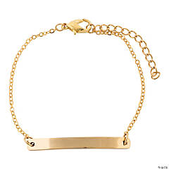 Personalized Goldtone Bar Bracelet