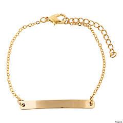 Personalized Goldtone Bar Bracelet